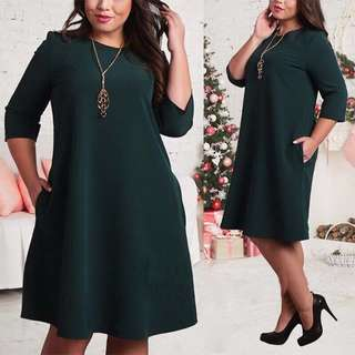 New dress green / red(plus size)