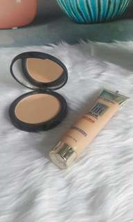 Auth loreal liquid foundation and sleek pressed powder bundle