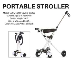 [GSS Price reduced] Portable Stroller Foldable Tricycle Lightweight scooter