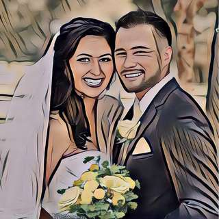 Do a Beautiful Portrait of Couple, Wedding Or Family Photo From Your Photo