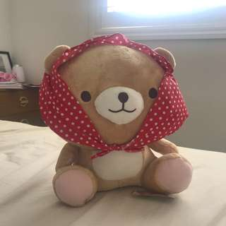 Morning Glory medium brown bear with Bandana