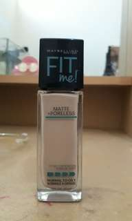 Maybelline fit me foundation matte + poreless 128 warm nude