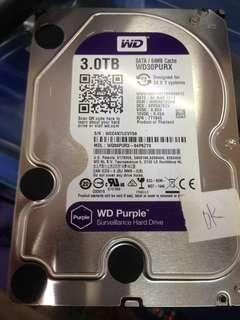 WTS Wd 3tb Sata purple Hdd $100 with warranty
