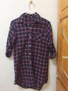 🚚 紅藍格紋襯衫