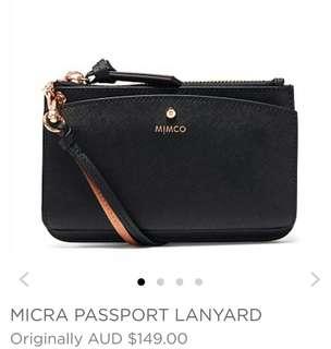 MIMCO - BNWT - RRP: $149.00 - TRAVEL/PASSPORT PURSE WITH MIRROR