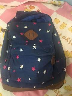 Shana denim printed backpack