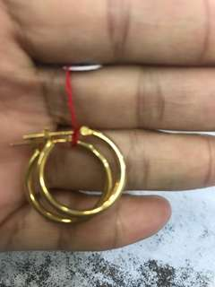 Loop earing size 25cent coin 1.2 grams