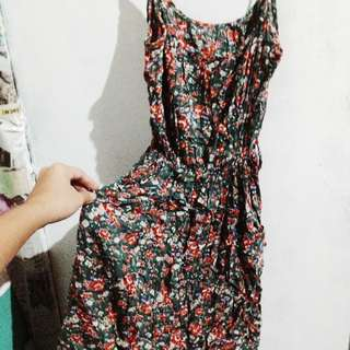 Floral dress with adjustable straps