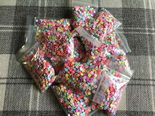 round fake sprinkles