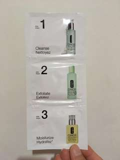 Clinique 3-step skin care for combination skin