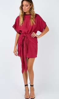 Princess polly shimmers wrap dress