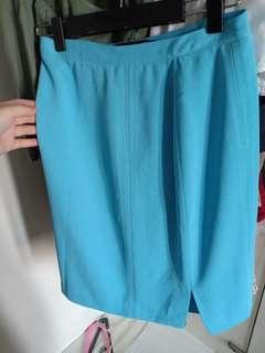 light blue pencil skirt for office work
