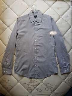 H&M Light Gray Long Sleeve Shirt