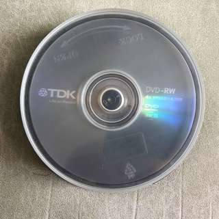 全新TDK DVD-RW 4X Speed 4.7GB 合共8隻