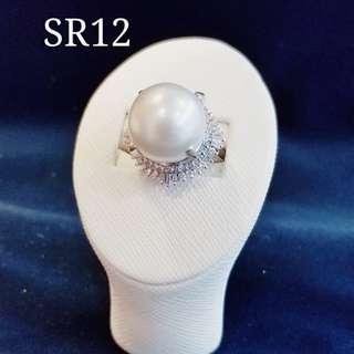 14mm南洋珍珠鑽石戒指
