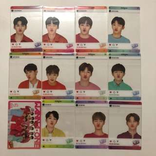 Wanna One Yes! Card 專輯卡 part1 透卡