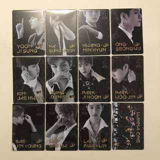 Wanna One Yes! Card 專輯卡 part1 夜光卡