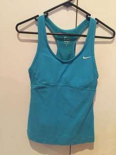 Nike Blue Racerback Dri-Fit Tank Size Small