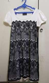 Lace Accent Dress