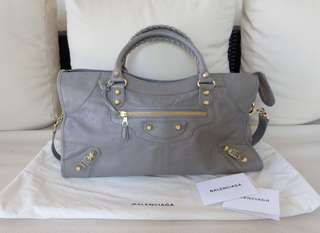BALENCIAGA Part Time in Gris Pyrite (Used Twice