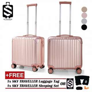 SKY TRAVELLER SKY297 Retro Trolley Case Boarding Box Trunk Box Ultra-light Luggage Password Lock 18Inch