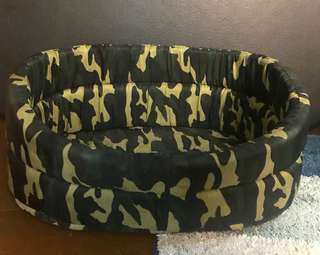 Small Camo Dog Bed
