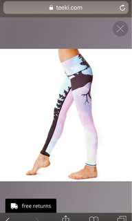 Teeki Northern Lights leggings/yoga pants