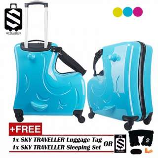 SKY TRAVELLER SKY305 Children Kids Luggage 20Inch Trolley Case Caster Pull Rod Box Spinner Rolling Luggage