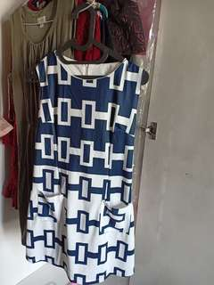 dress with pockets nautical style