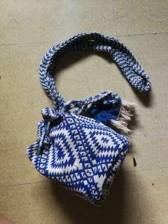 COTTON ON Drawstring Blue Bag
