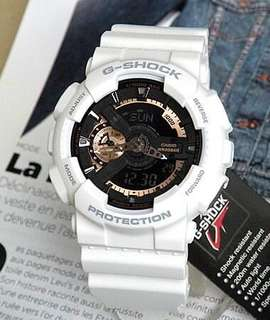GSHOCK WHITE ROSEGOLD WATCH