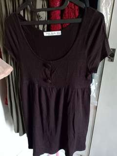 maternity dress dark brown
