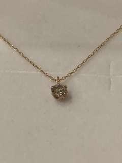 Diamonds (0.1ct)necklace Japan import