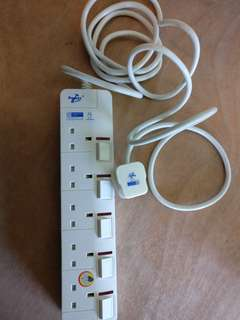 Power Point Extension Multi Socket Plug