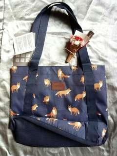🚚 可愛滿版圖紋帆布側背袋🎁便宜出清100$唷
