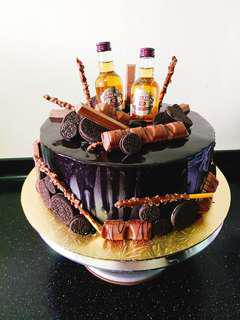 Customised Chivas Cake/ Overload with Choc