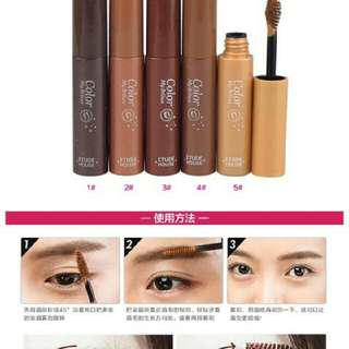 Etude eyebrow color mybrows eyebrow mascara