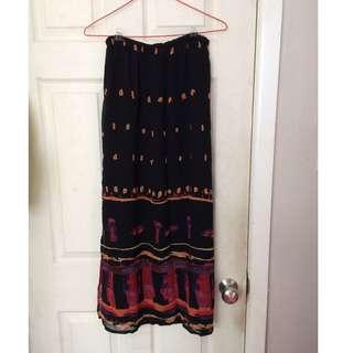 Chiffon-like maxi skirt