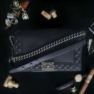 Chanel Boy Black Calfskin