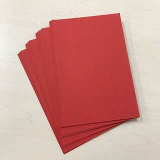 Calligraphy paper postcard size (red)