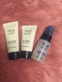 Etude House True Relief Skin Care Kit