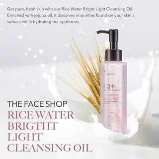 THE FACE SHOP Rice Water Bright Cleansing Oil Light