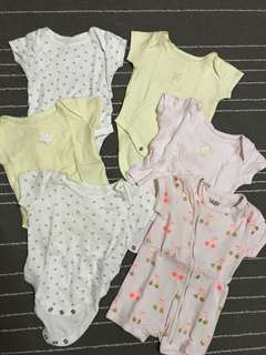 Bundle of Mothercare & Cotton On Rompers