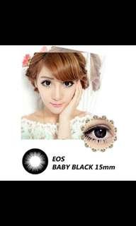 Original softlens eos baby black minus 3.5