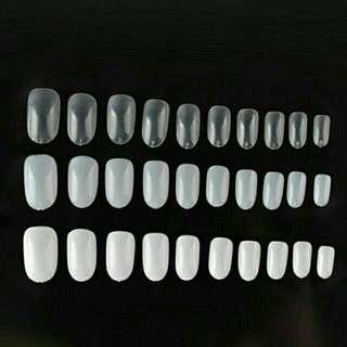 Mixed short round fake nails