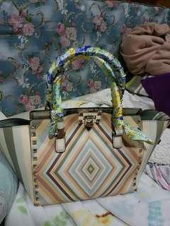 Valentino Garavani Rockstud Native Couture 1975 Double Mini tote bag