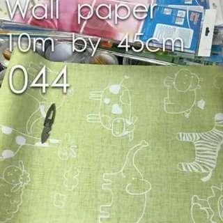 Animals Kids Room Wallpaper Self Adhesive C044