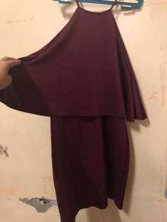 Black Sheep Maroon Dress XL