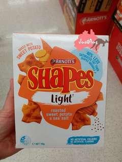 Arnott's Shapes Light 蕃薯餅乾 110g