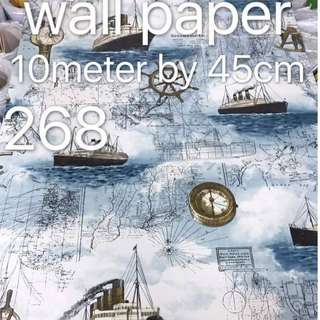Ships Sailor Wallpaper Self Adhesive C268